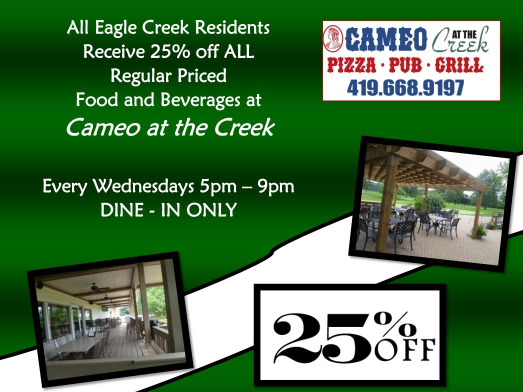 Eagle Creek Public Golf Course Discount resident